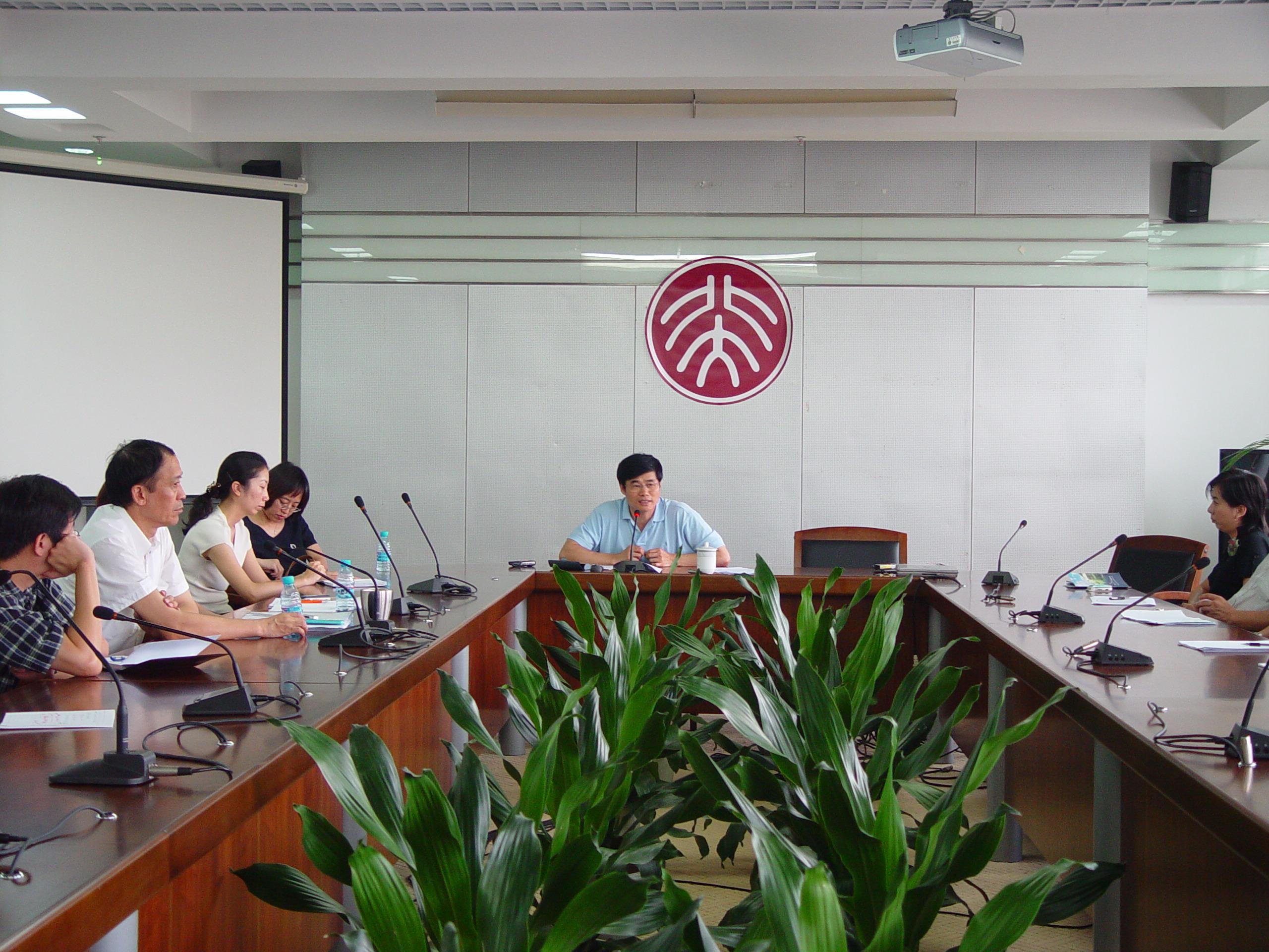 常务副校长陈文申与北大深圳研究生院新员工座谈