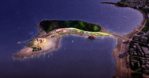 主持设计的珠海歌剧院日月