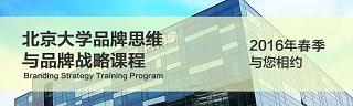 北京大学品牌思维与品牌战略课程