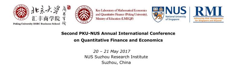 第二届PKU—NUS数量金融与经济学国际会议征稿
