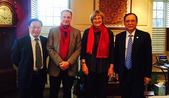 吴云东院长、徐信忠副院长随北京大学代表团访问美国、加拿大