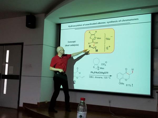 Professor Frank Glorius Visited SCBB