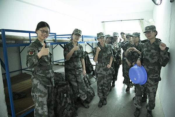 送别——汇丰商学院2017级新生5日部队集训结束
