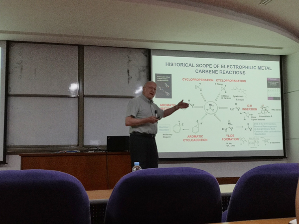 Prof. Michael P. Doyle from University of Texas at San Antonio visited SCBB
