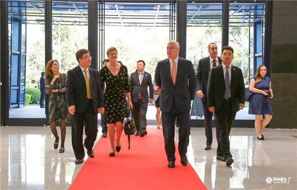 英国约克公爵安德鲁王子访问北京大学汇丰商学院