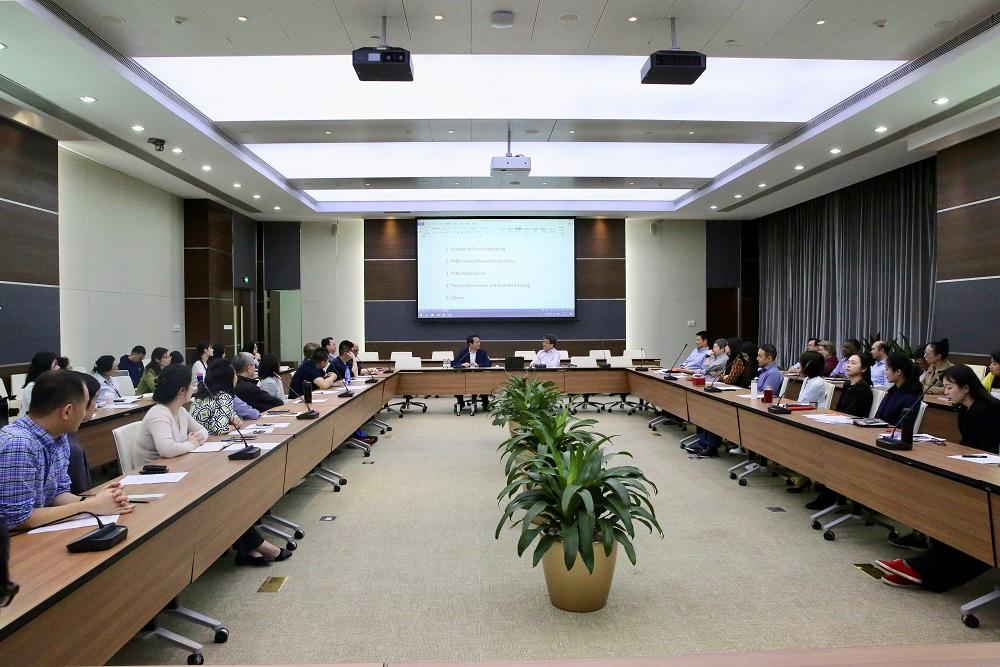 詹启敏调研国际法学院与汇丰商学院