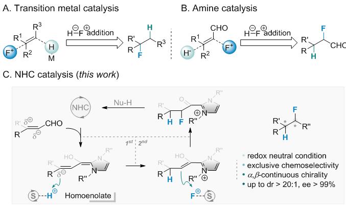 化生学院黄湧课题组发展了氧化还原中性的不对称氢氟化反应