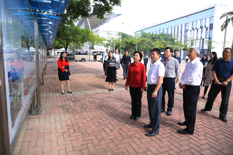 教育部国际合作与交流司司长刘锦一行到4166am备用调研