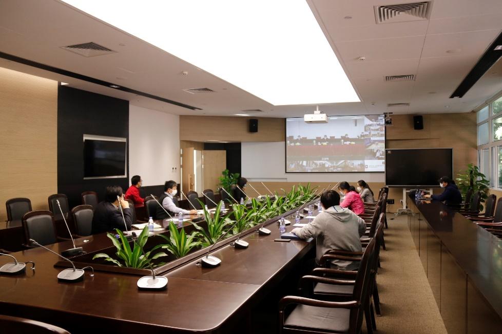 """我院参加北京大学""""双一流""""建设动态监测填报工作布置视频会议"""