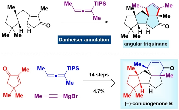 翟宏斌课题组完成天然产物(–)-Conidiogenone B, (–)-Conidiogenone 和 (–)-Conidiogenol的全合成