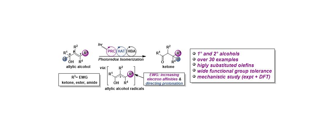 杨震课题组在可见光催化多取代烯丙醇异构化领域取得重要进展