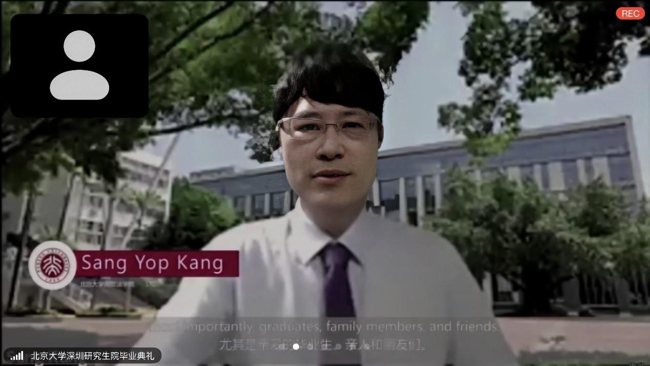 教师代表Sang Yop Kang在2020年毕业典礼上的发言