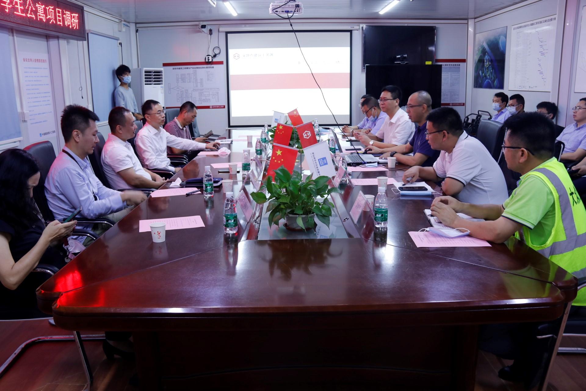 深圳市建筑工务署领导现场调研并推进燕园6号工作进展